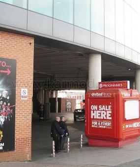Kioska ne Mbreterine e Bashkuar 'Manchester Old Trafford' dhe ne stadiumin 'Camp Nou'