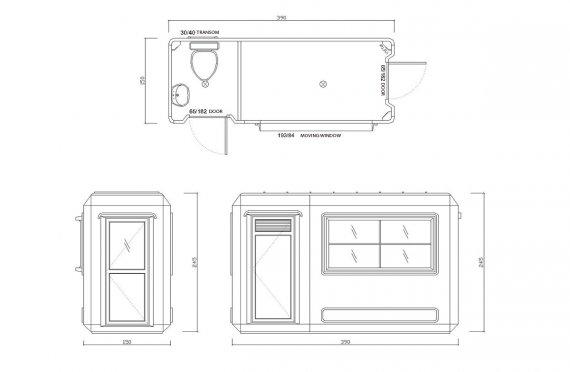 Tualet portabel 150x390 & Kabine sigurie