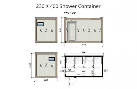 Konteinere Dushi 230x400 KW4