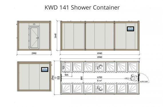 Konteinere Dushi KWD 141