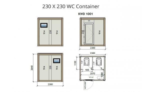 Konteiner Wc KW2 230x230
