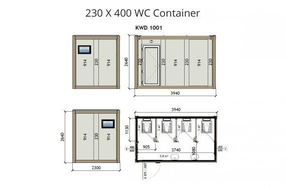 Konteiner WC KW4 230X400