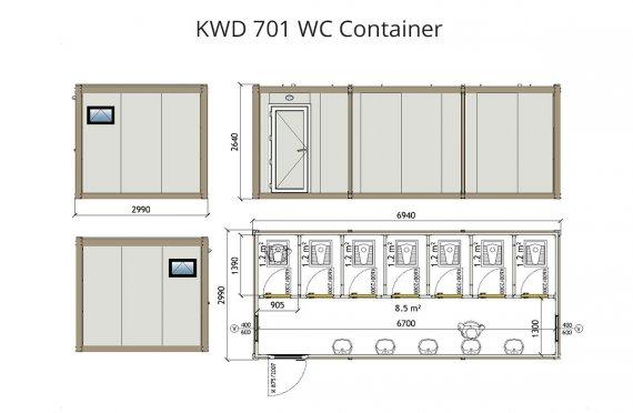 Konteiner Wc KWD 701
