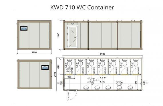 Konteiner Wc KWD 710