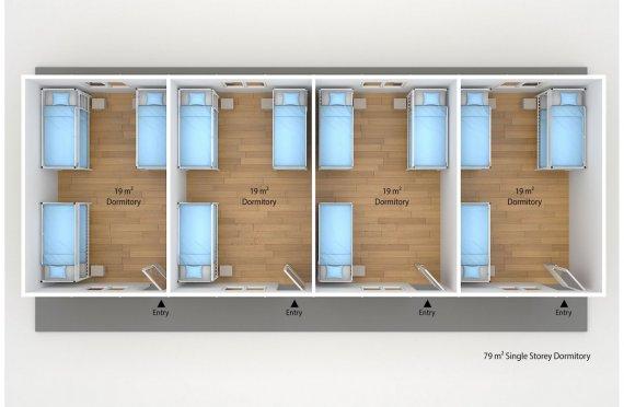 Njesi akomodimi Modular  79 m²