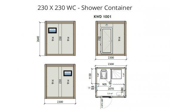 KW2 230X230 Konteiner Wc - Dush
