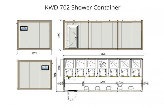 KWD 702 Konteiner Dushi