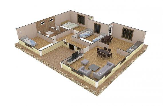 Shtepi e prefabrikuar 149 m²