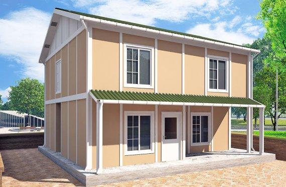Shtepi e prefabrikuar 127 m²