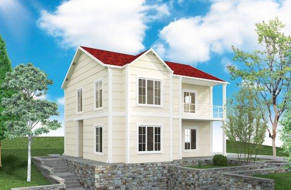 Shtepi e prefabrikuar 132 m²