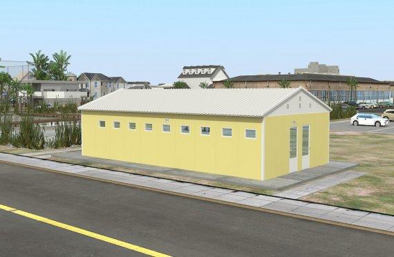 Tualet i prefabrikuar dhe ndertese dushi 82m²
