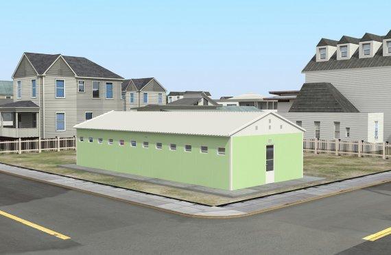 Tualet i prefabrikuar dhe ndertese dushi 97m²