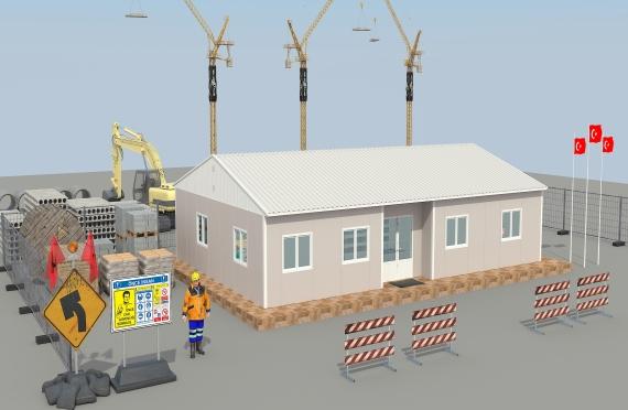 Ndertesa zyrash modulare 125 m²