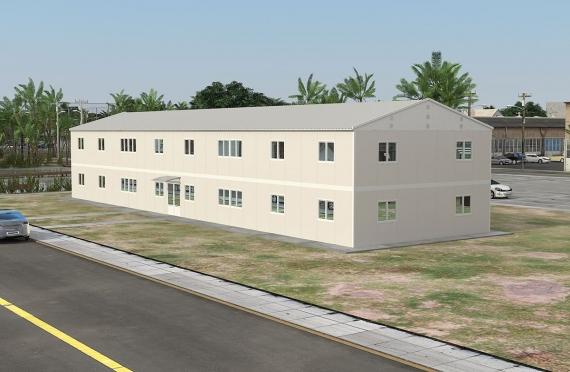 Ndertese zyre modulare 588 m²