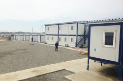 Ndertesa te prefabrikuara te ndertimit per projektin Shahdeniz-2 ne Azerbajxhan